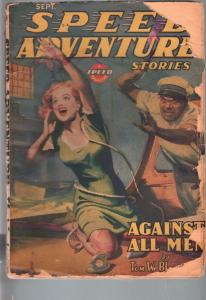 SPEED ADVENTURE STORIES 1944 SEP-SPICY MENACE PULP! FR/G