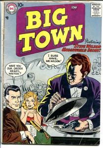 BIG TOWN #47 1957-DC COMICS-TV SERIES-WAITER WITH GUN! VG+