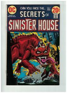 SECRETS OF SINISTER HOUSE 8 FINE Dec. 1972