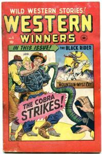 WESTERN WINNERS #6 1949-BLACK RIDER-TWO GUN KID-SNAKE   G