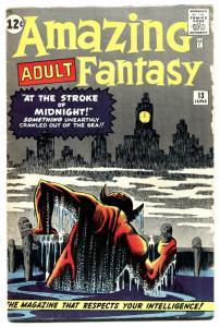 AMAZING ADULT FANTASY #13 1962-MARVEL-STEVE DITKO ART ISSUE-vg