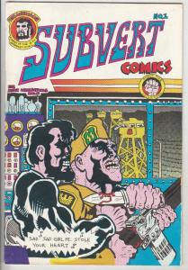 Subvert Comics #1 (Jan-71) VF- High-Grade Trashman