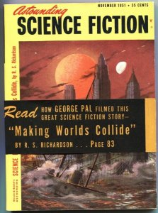 ASTOUNDING SCIENCE FICTION-NOV 1951-WHEN WORLDS COLIDE-GEORGE PAL FILM EDITION