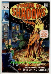 TOWER of SHADOWS #4, FN+, Evil, Horror, Witching, 1969,  (b) , Hippies