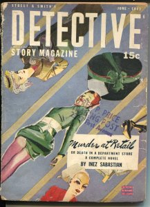 Detective Story 6/1943-crime & mystery pulp fiction-VG