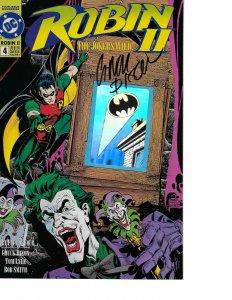 Robin II #4 HOLOGRAM COVER signed Chuck Dixon NM