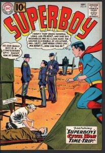 SUPERBOY #91-1961-CIVIL WAR ISSUE-DC SILVER AGE-VF VF