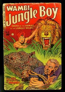 Wambi Jungle Boy #10 1950- elephant / lion cover- fiction house- G