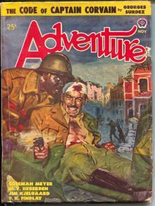 Adventure 11/1948-African-American man-Jim Kjelgaard-Georges Surdez-pulp-VG