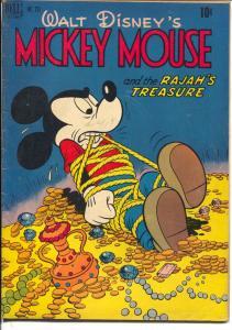 Four Color Comics-Mickey Mouse # 231 1949-Dell-Rajah's Treasure-Disney-FN-