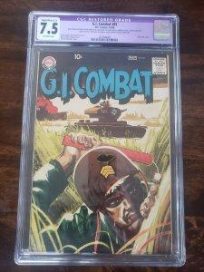G.I. Combat 81 CGC 7.5 purple restoration label