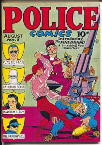 Police Comics 1970's-Reprints Police Comics #1 from 1941-color cover-NM