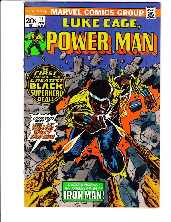 Luke Cage, Power Man #17 (Feb-74) VF- High-Grade Luke Cage Power Man