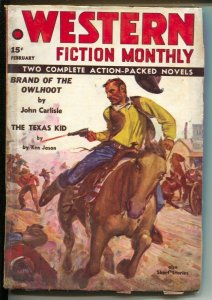 Western Fiction Monthly 2/1937-Red Circle-Texas Kid--Ken Jason-J W Scott cove...
