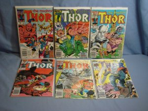 THE MIGHTY THOR Vol 1 Marvel Comics 5 ISSUES #364 1st App THROG & MORE L@@K!!!
