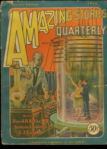 AMAZING STORIES QUARTERLY 1928 SUM-#3-EARLY SCIENCE FICTION PULP VG