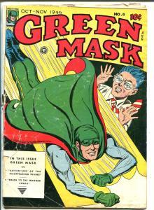 Green Mask #6 1946-Fox-Hooded Cobra-FR
