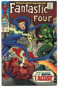 FANTASTIC FOUR #65-FIRST RONAN THE ACCUSER--1967-GOTG--F/VF