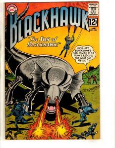 Blackhawk # 180 FN/VF DC Silver Age Comic Book Raven's 1963 Army Navy JL14