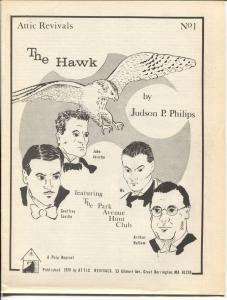 Attic Revials #1 1977-1st issue-pulp reprint-The Hawk-FN