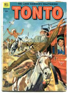Tonto #10 1953- Dell Western comic- Stage coach G