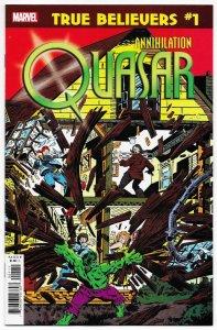 True Believers Annihilation #1 | Reprints Incredible Hulk #234 1st Quasar (NM)