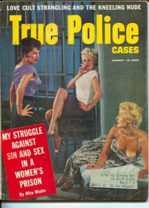 True Police Stories 1/1958-spicy women in prison cover-love cult strangulatio...