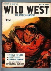 WILD WEST WEEKLY 5/8/1943-WESTERN PULP-RAWHIDE RUNYAN VF-