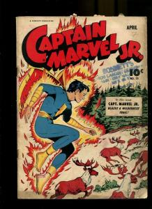 CAPTAIN MARVEL JR 29-1945-BLAZES A WILDERNESS TRAIL G/VG