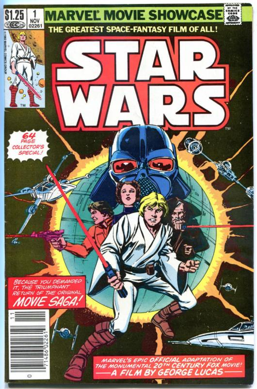 MARVEL MOVIE Showcase STAR WARS #1, VF, Darth Vader, 1982, more SW in store