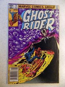 GHOST RIDER # 74 MARVEL BRONZE HORROR SUPERNATURAL FN