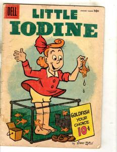 Little Iodine # 31 VG Dell Silver Age Comic Book 1956 Jimmy Halo Goldfish JL15