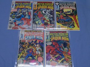 Five Marvel Peter Parker Spectacular Spider-Man (1976) Comics 6 11 12 22 23 L@@K