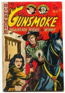 Gunsmoke #9 1950-Western-headlight cover- pre-code western