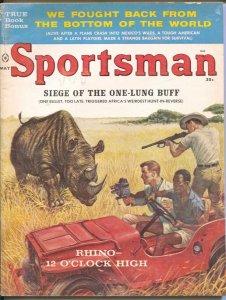Sportsman 5/1960 Rhino attack cover-Ed Emsh-Vic Prizio-pulp thrills-G/VG