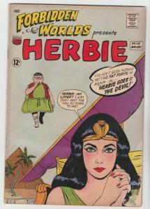 Forbidden Worlds #116 (Nov-63) VG+ Affordable-Grade Herbie Popnecker