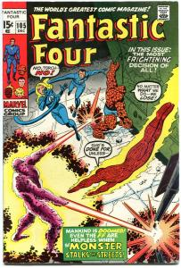 FANTASTIC FOUR #105, FN+, Monster, John Romita, 1961, more FF in store, QXT