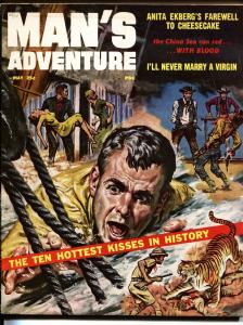 Man's Adventures 5/1957 Tiger cover-Anita Ekberg-First issue
