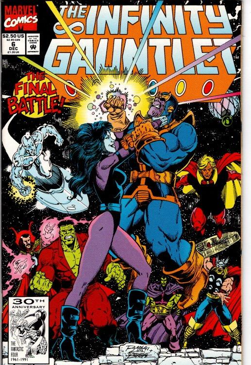 INFINITY GAUNTLET #5,6 NEAR MINT $15.00