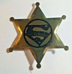 DC COMICS SUPERMAN THE KENTS SHERIFF BADGE TIN PIN PROMO 1997 NEW