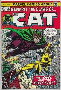Cat (vol. 1, 1972) #2 VG Severin, Owl, Greer Nelson