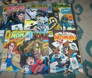 nomad #   1 2 4 7 11 13 vol 2+ # 4 vol 3 1991 marvel + bucky  captain america