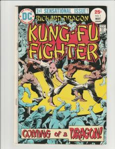 Richard Dragon Kung Fu Fighter #1 (DC 1975) KEY 1st Appearance Bronze Tiger
