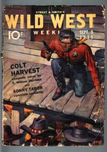WILD WEST WEEKLY 9/9/1939-WESTERN PULP-SONNY TABOR G/VG