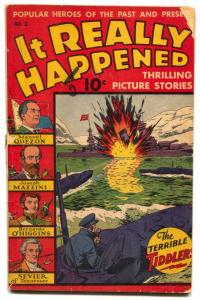 It Really Happened #2 1944- Schomburg cover- Mazzini- Quezon G