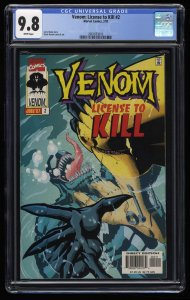 Venom: License to Kill #2 CGC NM/M 9.8 White Pages