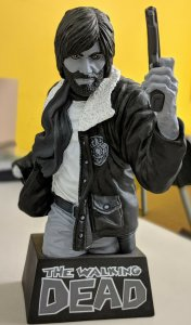 Rick Grimes Black and White Bust Bank The Walking Dead Diamond Select Skybound