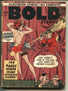 Bold Stories 3/1950 Very rare spicy Digest WALLY WOOD art Good Girl Art