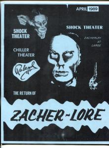 The Return of Zacher-lore April 1989- Zacherley Fanzine / scrapbook
