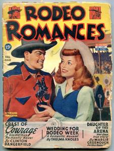 Rodeo Romances Pulp Fall 1945- TCrest of Courage- Daughter of the Arena